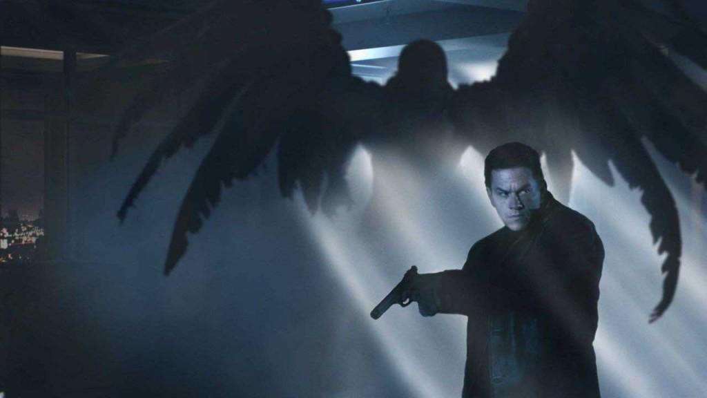 Max Payne and a creepy angel thing-a-ma-jig.