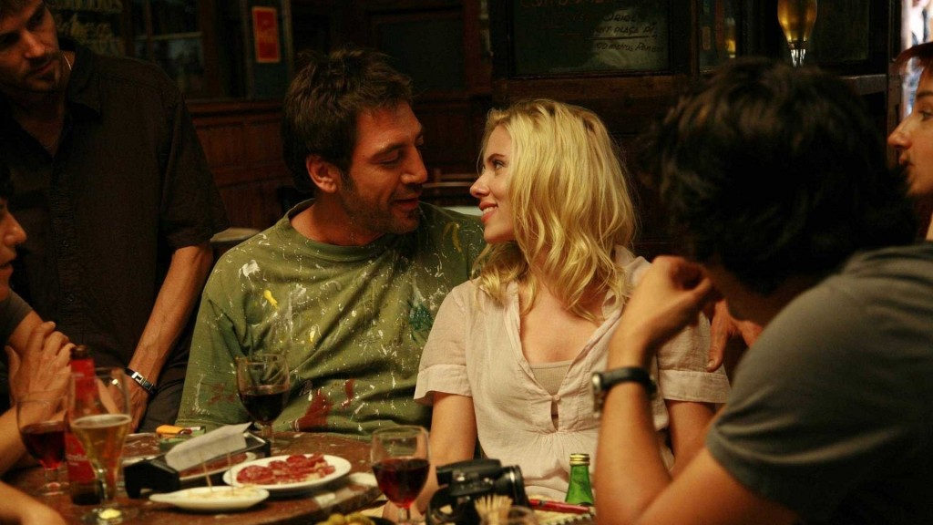Javier Bardem and Scarlett Johansson share a beatnik moment.