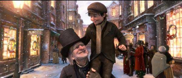 SPOILER ALERT: Scrooge has a change of heart.